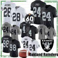 ingrosso maglia di calcio 83-28 Josh Jacobs di New Jersey Oakland Raider 34 BO Jackson 98 Maxx Crosby 83 Darren Waller 4 Derek Carr Ken Marshawn Lynch 24 Johnathan Abram