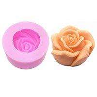 ingrosso stampo di biscotti di rosa-Stampo per rose in silicone 3D per biscotto fatto a mano Stampo per biscotti Stampo per cioccolato Artigianato Fiore Arte Strumenti per decorare torte da cucina Padella da forno