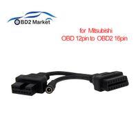 Wholesale obd adapter mitsubishi resale online - OBD2 Diagnostic Connector For Mitsubishi Pin to OBD II Female Pin OBD1 OBD2 Connector Adapter