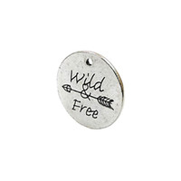 Wholesale arrow necklace diy resale online - Antique Silver Plated Wild Free Arrow Charms Pendants for Bracelet Jewelry Making DIY Necklace Craft x25mm