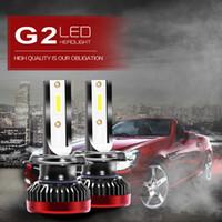 g ampoules achat en gros de-Le mini kit d'ampoules de phare de la voiture LED de 8000LM G