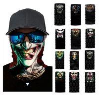Wholesale silver skull face mask for sale - Group buy 3D Seamless Balaclava Magic Scarf Neck Face Mask Ghost Skull Skeleton Head Bandana Shield Headband Headwear Bandana Men Bicycle