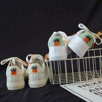 sapatas brancas bonitos do laço venda por atacado-Moda abacaxi sapatos brancos mulheres flats sapatilhas plataforma bonito trepadeiras calçados casuais de couro lace up flats meninas tênis
