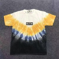 Wholesale men champagne tie for sale - Group buy Tie dyeing KITH T shirt Men Women Best Quality T Shirt Mens Kith T shirt Top Tees