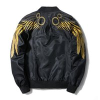 ingrosso ali di design-Giacche da uomo con ricamo ala maschile MA1 sottile primavera nuovi cappotti EAGLE WINGS Giacca bomber design spallina
