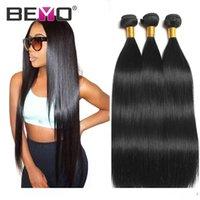 Wholesale buying indian human hair resale online - Beyo Straight Hair Bundles Raw Virgin Indian Hair Extensions Straight Human Hair Bundles Inch Remy Can Buy Pieces Beyo