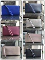carteiras de grife para meninas venda por atacado-10 cores designer marca carteiras wristlets titulares de cartão de mulheres meninas 3 camadas