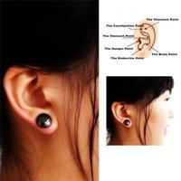 stimulate clips großhandel-Gesundheitswesen-Magnet-Ohrring-Ohr-Bolzen-magnetischer Abnehmengesunder anregender Ohr-Clip