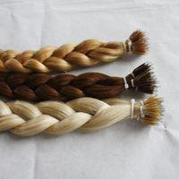 marcas de cabelo virgem não processadas venda por atacado-Elibess Marca Nano anel extensões de cabelo cabelo virgem brasileiro, 100% cabelo humano tecer cabelo humano não processado, 1g st 150s um lote, DHL livre