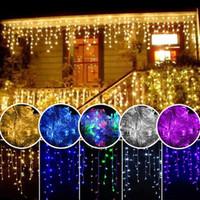 precio de la boda de iluminación al por mayor-Más bajas cadena luz Precio 100LED 10M Navidad / boda / decoración del partido LED Franja 220V impermeable al aire libre llevadas 9 colores