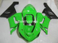 zx6r yeşil toptan satış-Kawasaki Ninja ZX-6R için motosiklet kaporta kiti 636 05 06 yeşil siyah kaportalar set ZX6R 2005 2006 MS01