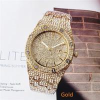 Wholesale quartz watches sets for women for sale - Group buy 2019 leisure fashion set auger sports watches for men and women leisure fashion steel band quartz watch