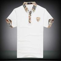 polo con descuento al por mayor-Descuentos PoloShirt hombres camiseta de manga corta de la marca London New York Chicago polo camisa de los hombres Dropship barato alta calidad gratis Shipping2019