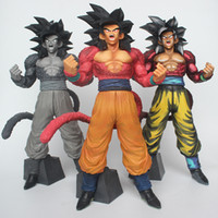 Wholesale gt toys for sale - Group buy Dragon Ball Smsp GT DXF De Super Warriors Goku Zwart Super Saiyan Vegetto Action Figure Toys Doll New Arrvial Hot Sale