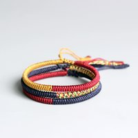 Wholesale tibetan jewelry for men for sale - Group buy Eastisan Multi Color Tibetan Buddhist Lama Braided Knots Lucky Rope Bracelet For Man Women Size Adjustable Handmade Jewelry