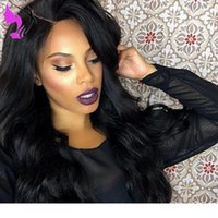 Wholesale celebrity wig resale online - 2020 newest synthetic lace frontal full wigss Side Part celebrity synthetic lace front wigs with baby hair For Women