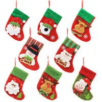 weihnachtsbäume großhandel-Weihnachtsmann-Weihnachtsstrumpf-Karikatur-Weihnachtsbaumschmuck-Weihnachtssocken-Süßigkeits-Geschenk-Beutel-Ausgangsparty dekoratives TTA1621
