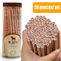 Wholesale 2h pencils for sale - Group buy 50 Set B HB H Wood Standard Pencil Sketch Drawing Pencil School Studio Supplies Writing Stationery High Quality Black Core