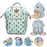 Wholesale travel fox bag for sale - Group buy Brand Design Mummy Bags Fashion Fox Printed Travel Backpack Large Cartoon Maternity Diaper Bags Nursing Bag For Baby Care Y200107