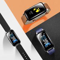 дисплей для браслетов bluetooth оптовых-Новая модная мужская цифровая застежка с застежкой-ремешком с браслетом Bluetooth-гарнитура Новая модная модель сотовых телефонов