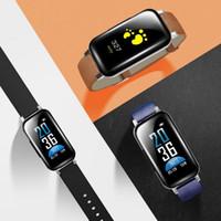 pantalla de pulsera bluetooth al por mayor-Moda Nuevo Unisex Pantalla digital Cierre de hebilla Pulsera inteligente Pulsera Auricular Bluetooth Nuevos accesorios de teléfonos celulares de moda