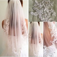 Wholesale elbow veils resale online - New Arrival Hot White Ivory High Quality Simple Short Elbow Length With Comb Bridal Veils Comb Soft Wedding Veil Accessories for Brides