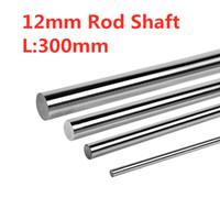 rolamento de rolos cônicos venda por atacado-4pcs diâmetro 12mm - o eixo redondo linear chapeado cromo de 300mm endurece a haste