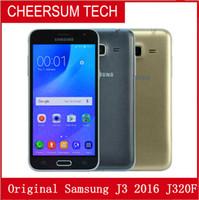 Wholesale unlocked android smart phones single sim resale online - unlocked Original Refurbished Samsung J320F J3 J320 Original Lcd Single Sim G RAM G ROM inch Smart Phone free post
