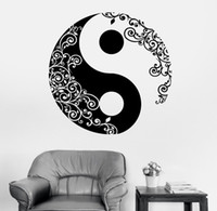 calcomanías florales de pared pegatinas al por mayor-Mandala etiqueta de la pared calcomanía casa buddha yin yang yoga yoga meditación calcomanía arte de la pared mural decoración para el hogar decoración d 175