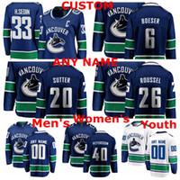 Wholesale henrik sedin jersey resale online - Vancouver Canucks Jerseys Henrik Sedin Jersey Elias Pettersson Brock Boeser Antoine Roussel Brandon Sutter Ice Hockey Jerseys Stitche
