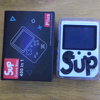 video oyunları player konsolu toptan satış-SıCAK SEII SUP Mini El video Oyun Konsolu Taşınabilir Retro 400 1 MODELI FC AV IÇIN Dışarı Renkli Oyun Oyuncular