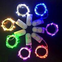 ingrosso rame di luce della stringa della batteria-Filo di rame LED String Light CR2032 Fiamme a batteria 2m 20LED LED String per decorazioni natalizie