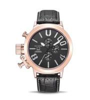 erkekler için büyük yuvarlak saatler toptan satış-Marca Orologio erkek Izle Yeni Erkek Otomatik Mekanik Beyaz Kadran Saatler Tekne Büyük 5 cm Klasik Yuvarlak Siyah U Kauçuk Lüks İzle Logo Var