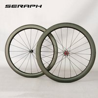 Wholesale bike tubular rims carbon resale online - full carbon wheelset with chosen hub and novatc hub for Road Bike carbon rims mm width clincher tubular wheels