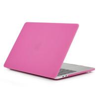 macbook air frosted al por mayor-Mate dura cubierta de plástico protectora para el MacBook Air Pro Retina 11 12 13 15 pulgadas portátil de cristal esmerilado recubiertos de goma durable Casos de Shell