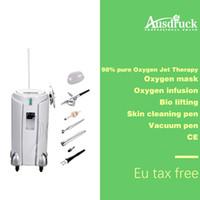satılık biyo toptan satış-Sıcak satış 6 in 1 98% saf Oksijen Sprey enjeksiyon oksijen maskesi su oksijen kalem biyo cilt sıkma makinesi skar kırışıklık akne sökücü