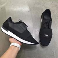 ingrosso scarpe d'affari per le donne-2019 HOT Spedizione Gratuita Kanye West Low Top Sneakers Uomo e Donna in Pelle Business Casual Scarpe Parigi Uomini Scarpe Designer TAGLIA 34-47