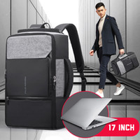Wholesale business backpack notebook for sale - Group buy 17 inch Laptop Backpack Anti Theft Bag Male Men Bagpack USB Notebook Travel Business Backpacks Man Waterproof Outdoor Bags T191021