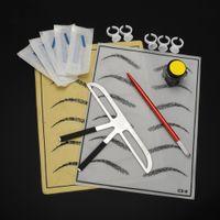 Wholesale silica kit for sale - Group buy Microblading Supplies Sets Kit Eyebrow Prastics Skin Professional Para Microblading Training Kits Practice Set Tauaje Silica Gel Hot Sale