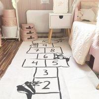 bebekler zemin paspası toptan satış-Bebek Çal Mat Yumuşak Tarama Kilimler Araç Takip Desen Bulmacalar Öğrenme Oyuncak Nordic Stili Çocuk Odası Dekorasyon Kat Halı
