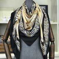 Wholesale hijabs resale online - luxury New Designer Scarves Best Gift cm Large Square Scarfs And Shawls Wraps Hijabs Pashmina Winter Muffler Beach Coverup Neck