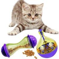 iq oyuncakları toptan satış-Kedi Besleyiciler Topu Pet Interaktif Oyuncak Tumbler Yumurta Akıllı Kedi Oynarken Oyuncaklar Köpekler için Sallayarak Topu Tedavi IQ Artırır 23