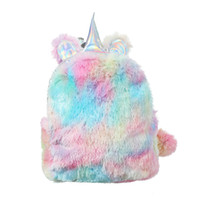 mochila infantil para viajar al por mayor-Mochila para niños mochilas de felpa unicornio mochilas de color a juego bolsa de viaje de diseñador bolsa de viaje bolsas de lona bolsas de diseñador de moda de lujo