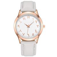 como relojes al por mayor-Los relojes digitales árabes simples y clásicos se venden como pan caliente en extraños relojes de cuarzo digital de cuero real