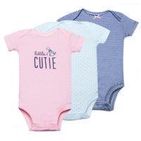 Wholesale girls wear jumpsuits for sale - Group buy 3pcs Baby Rompers Set Short Sleeves Cotton Made Newborn Baby Girls Clothes Baby Wear Jumpsuits Clothing Set Roupas Bebes