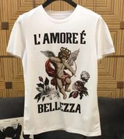 Wholesale famous clothing brands for men online - 2019 spring ss new fashion tees letter print tee t shirt for men black color cotton famous brand clothing