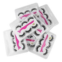 Wholesale clip false eyelashes for sale - Group buy 2019 Pairs Set d False Eyelashes Styles Thick Long Eyelash Eye Lashes with Eyelash Clip Applicator Eye Makeup