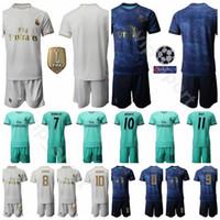 ingrosso set di numeri di calcio-19-20 Real Madrid Soccer 7 Eden Hazard Jersey Set 10 Luka Modric 11 Gareth Bale Football Shirt Kit Uniform Nome personalizzato Numero