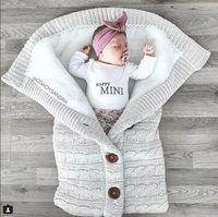 Wholesale cashmere sleeping bags resale online - Baby Sleeping Bags Kids Sleeping Sack Thickening Cashmere Knitting Keep Warm Woollen Yarn Cart Sleeping Bag