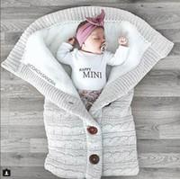 yarn bag achat en gros de-Sacs de couchage pour bébé Enfants sac de couchage Épaississement Cachemire À Tricoter Garder Au Chaud Fils De Laine Panier Sac De Couchage 41